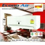 โครงแอร์คอล์ยเย็น EconoAir แบบติดผนัง ขนาด 13,000 BTU.
