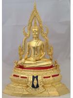 พระพุทธชินราช ปิดทองแท้ ฐานเตี้ย หน้าตัก 5นิ้ว