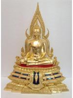 พระพุทธชินราช หน้าตัก 9นิ้ว ฐานสูง ปิดทองแท้