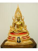 พระพุทธชินราช เนื้อทองเหลือง ขัดมัน 5นิ้ว