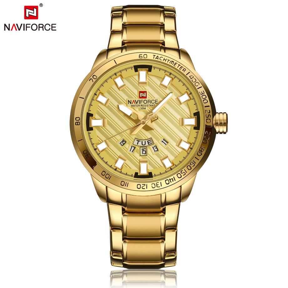 นาฬิกา Naviforce รุ่น NF9090M สีทอง ของแท้ รับประกันศูนย์ 1 ปี ส่งพร้อมกล่อง และใบรับประกันศูนย์ ราคาถูกที่สุด