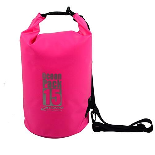 กระเป๋ากันน้ำ Ocean Pack 15L-สีชมพู