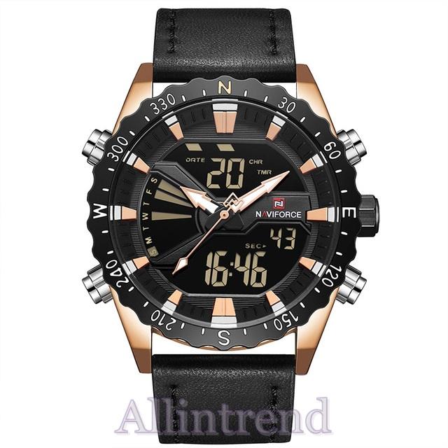นาฬิกา Naviforce รุ่น NF9136M สีทองชมพู/ดำ ของแท้ รับประกันศูนย์ 1 ปี ส่งพร้อมกล่อง และใบรับประกันศูนย์ ราคาถูกที่สุด
