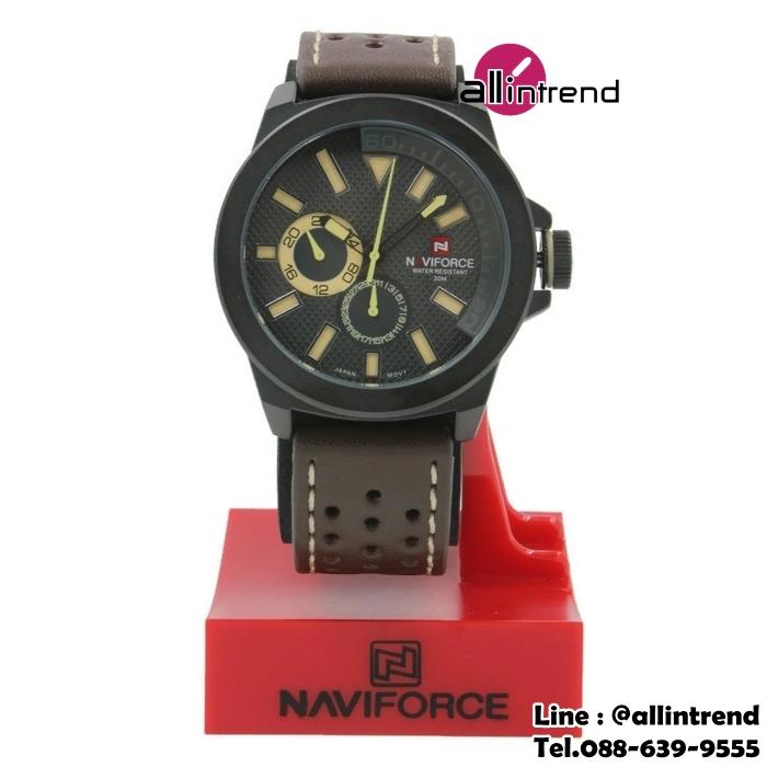 นาฬิกา Naviforce รุ่น NF9064M สีส้มอ่อน/ดำ ของแท้ รับประกันศูนย์ 1 ปี ส่งพร้อมกล่อง และใบรับประกันศูนย์ ราคาถูกที่สุด