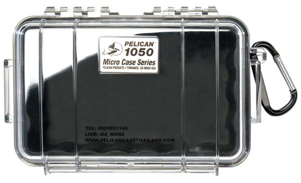 PELICAN™ 1050 MIRCOCASE, BLACK / CLEAR