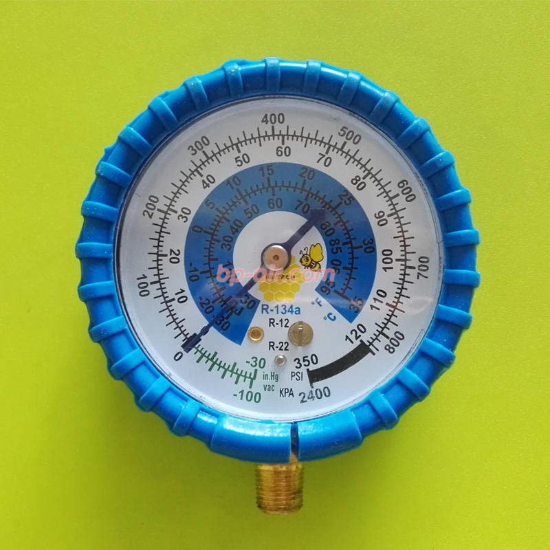หัวเกจวัดน้ำยา R-22 ฝั่ง Low สีน้ำเงิน