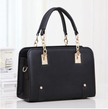 พร้อมส่ง กระเป๋าผู้หญิง ถือและสะพายข้างแฟชั่นสไตล์เกาหลี รหัส KO-569 สีดำ 3 ใบ