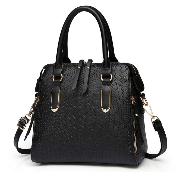 ขายส่ง กระเป๋าผู้หญิง ถือและสะพายข้างแฟชั่นสไตล์ยุโรป เรียบหรู รหัส KO-914 สีดำ