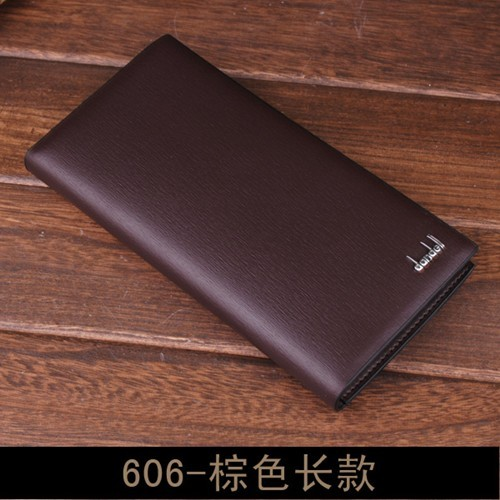 พร้อมส่ง กระเป๋าสตางค์นักธุรกิจผู้ชาย ใบยาว แฟชั่นเกาหลี ยี่ห้อ dandeli รหัส DA-606-L สีน้ำตาล