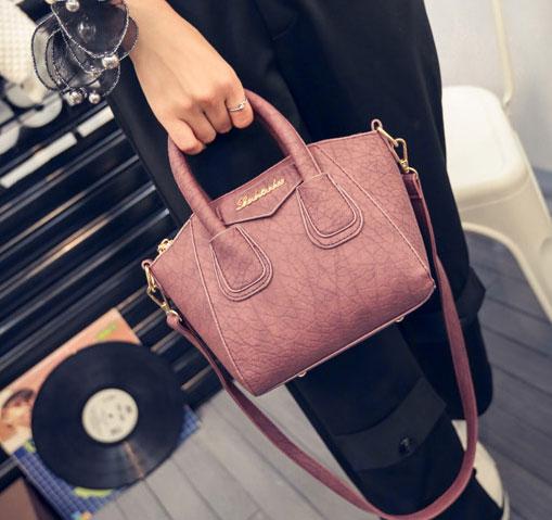 ขายส่งกระเป๋าผู้หญิง ถือและสะพายข้างใบเล็ก แฟชั่นเกาหลี Fashion รหัส NA-365 สีชมพูเข้ม