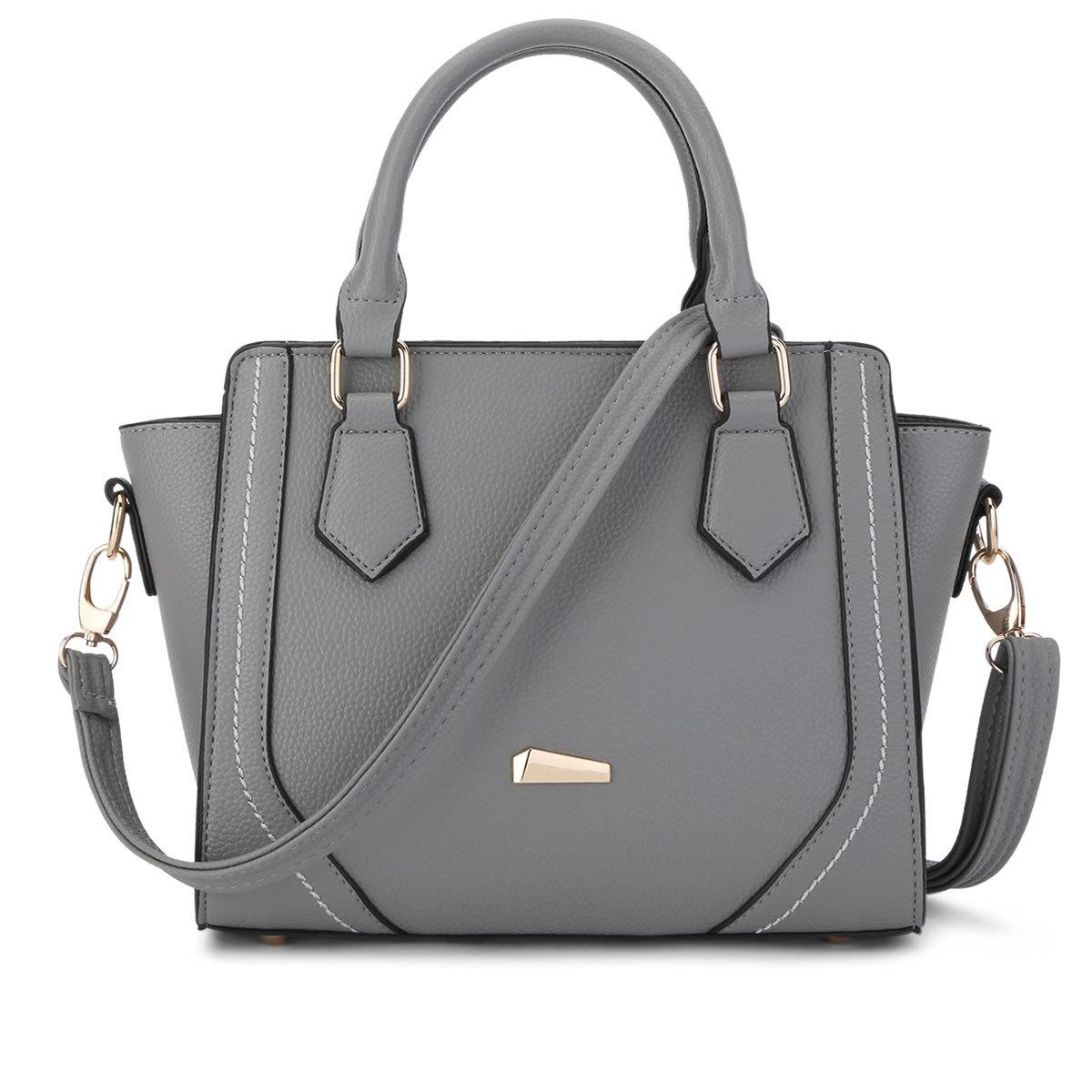 พร้อมส่ง ขายส่งกระเป๋าถือผู้หญิง คุณนายวัยทำงาน ผู้ใหญ่ เรียบหรู แฟชั่นยุโรป Sunny-878 สีเทาเข้ม