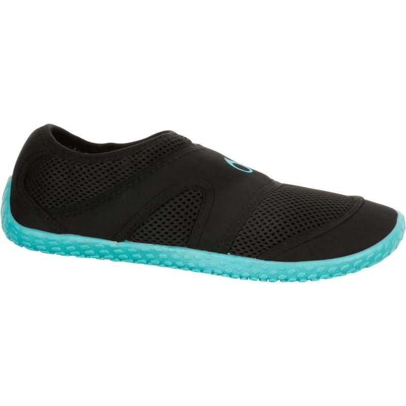 รองเท้าลุยน้ำ รองเท้าดำน้ำ สีดำ พื้นสีฟ้า