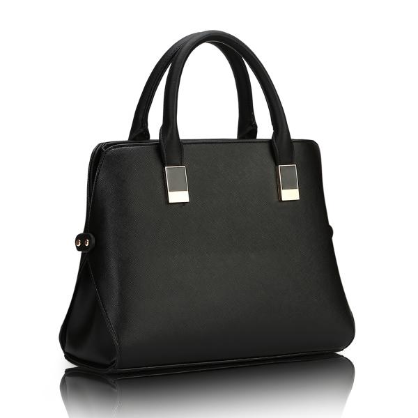 พร้อมส่ง กระเป๋าถือและสะพายข้าง กระเป๋าหรูคุณนายแฟชั่นเกาหลี Sunny-660 สีดำ