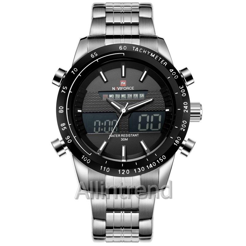 นาฬิกา Naviforce รุ่น NF9024M สีขาว/เงิน ของแท้ รับประกันศูนย์ 1 ปี ส่งพร้อมกล่อง และใบรับประกันศูนย์ ราคาถูกที่สุด