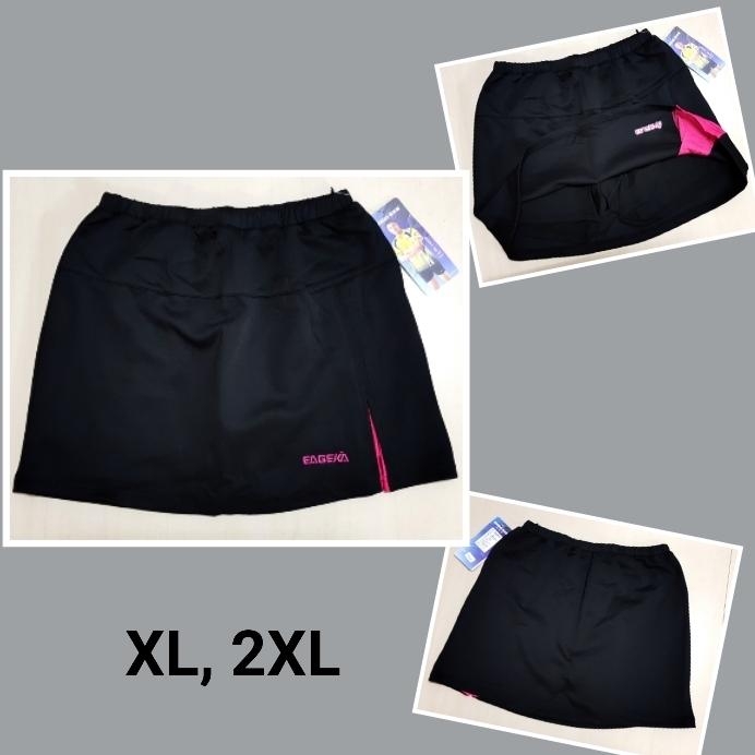 กระโปรงกางเกงกีฬา สีดำ/ชมพู