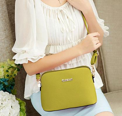 ขายส่งกระเป๋าสะพายข้างผู้หญิง Messenger bag ใบเล็ก แฟชั่นเกาหลี Sunny-785 สีเขียวอ่อน
