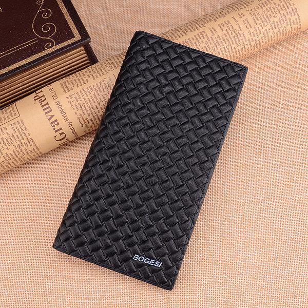 พร้อมส่ง กระเป๋าสตางค์นักธุรกิจผู้ชาย ใบยาว แฟชั่นเกาหลี ยี่ห้อ dandeli รหัส DA-381-35 สีดำ
