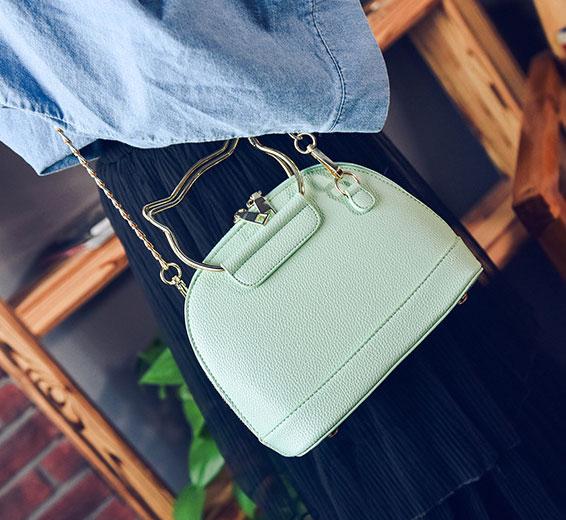 ขายส่งกระเป๋าผู้หญิง ถือและสะพายข้างใบเล็ก หูจับแมว แฟชั่นเกาหลี Fashion รหัส NA-564 สีเขียว