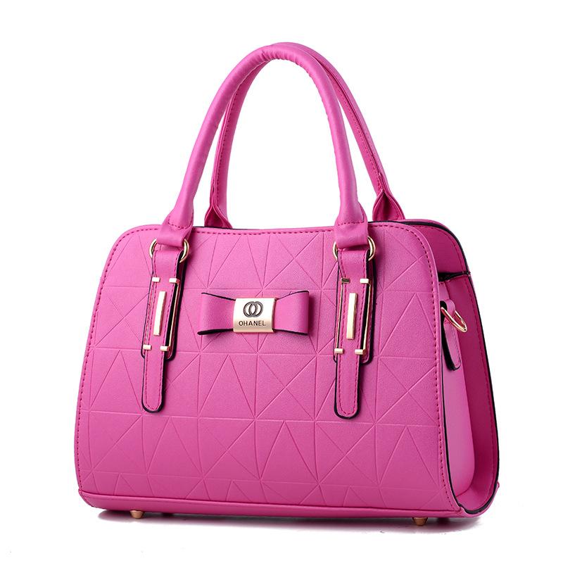 พร้อมส่ง กระเป๋าผู้หญิงถือและสะพายข้างแฟชั่นสไตล์ยุโรป เรียบหรู รหัส Yi-8885 สีบานเย็น