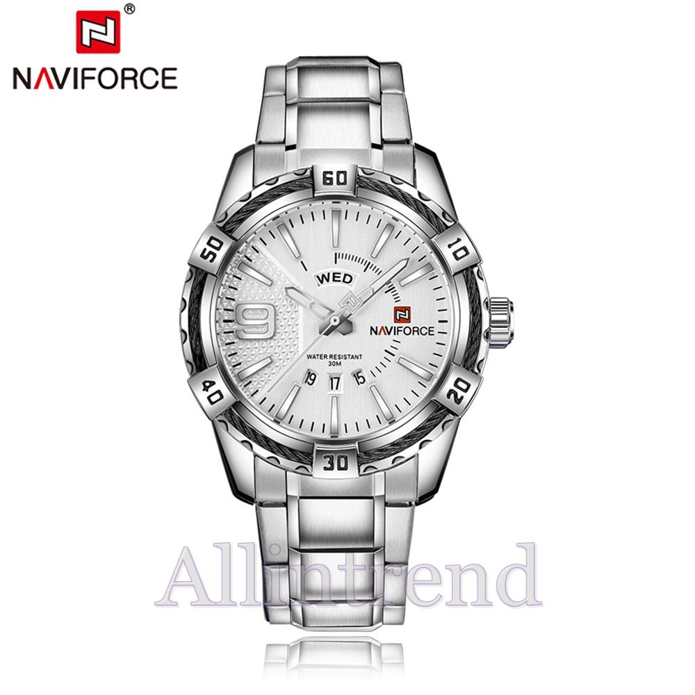 นาฬิกา Naviforce รุ่น NF9117M สีดำ/เงิน ของแท้ รับประกันศูนย์ 1 ปี ส่งพร้อมกล่อง และใบรับประกันศูนย์ ราคาถูกที่สุด