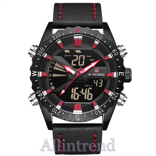 นาฬิกา Naviforce รุ่น NF9136M สีแดง/ดำ ของแท้ รับประกันศูนย์ 1 ปี ส่งพร้อมกล่อง และใบรับประกันศูนย์ ราคาถูกที่สุด