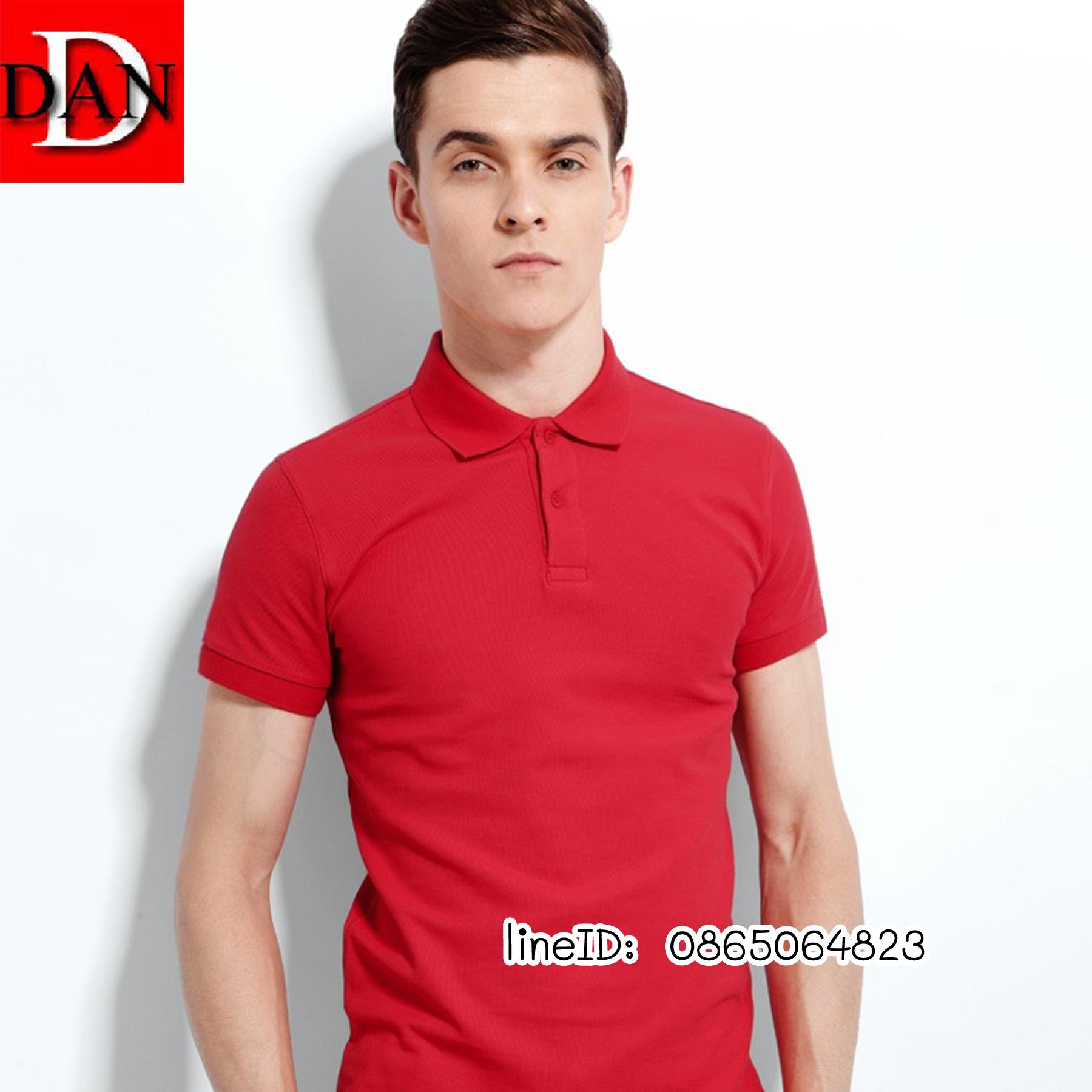 เสื้อโปโลจูติ TC สีแดง