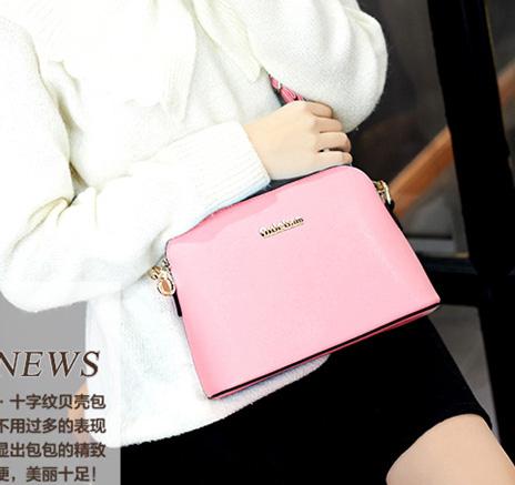 ขายส่งกระเป๋าสะพายข้างผู้หญิง Messenger bag ใบเล็ก แฟชั่นเกาหลี Sunny-785 สีชมพู