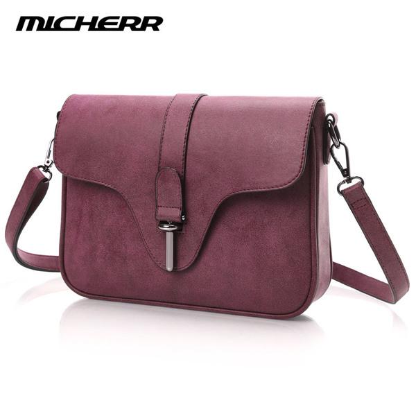พร้อมส่ง กระเป๋าผู้หญิงสะพายข้างใบเล็ก แฟชั่นเกาหลี ยี่ห้อ MICHERR แท้ รหัส AL-8831 สีไวน์แดง 1 ใบ