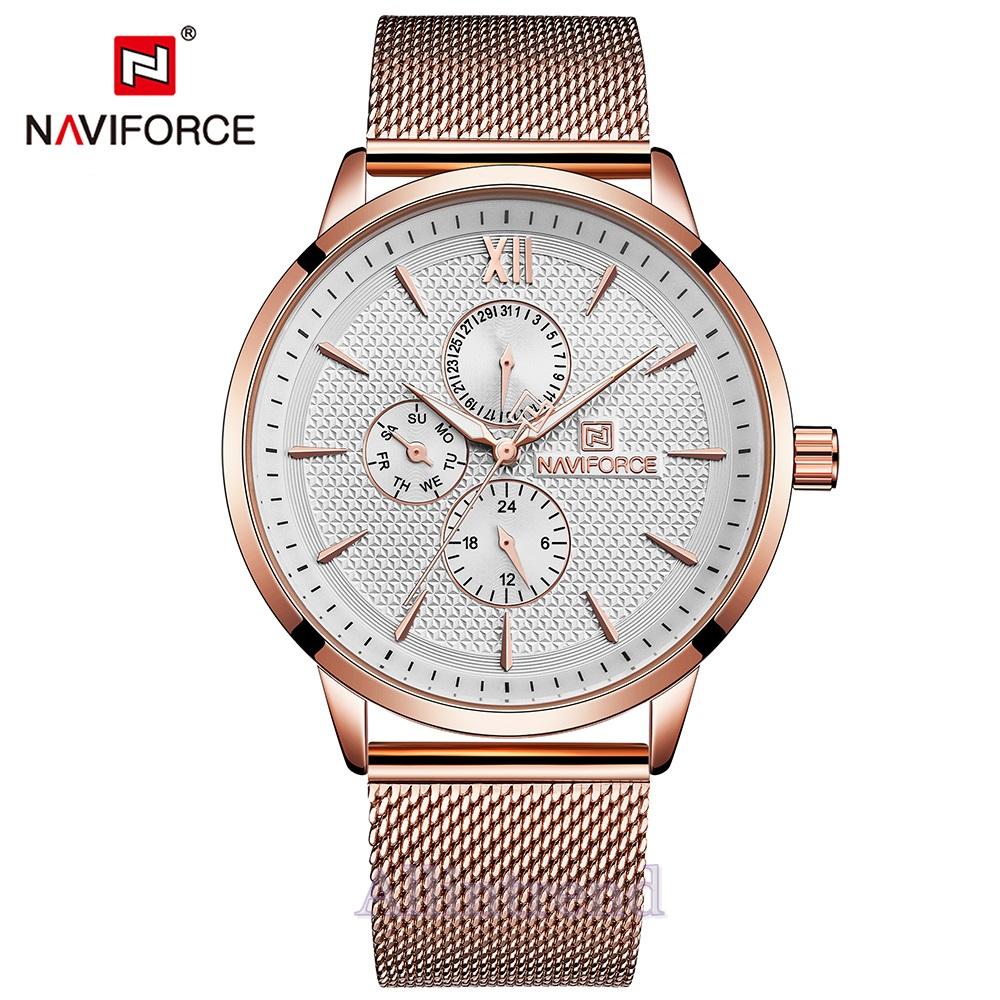 นาฬิกา Naviforce รุ่น NF3003M สีทองชมพู ของแท้ รับประกันศูนย์ 1 ปี ส่งพร้อมกล่อง และใบรับประกันศูนย์ ราคาถูกที่สุด