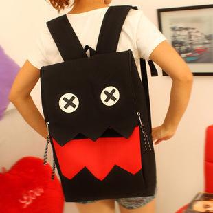 พร้อมส่ง ขายส่งกระเป๋าเป้ผ้าสะพายหลัง เป้นักเรียน นักศีกษา เป้เดินทางใส่คอมพิวเตอร์ Fashion bag รหัส G-599 สีดำ