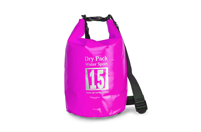 กระเป๋ากันน้ำ Dry pack 15L-สีชมพู
