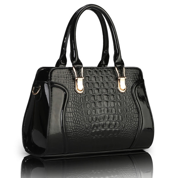 พร้อมส่ง กระเป๋าถือและสะพาย กระเป๋าหรูคุณนายแฟชั่นเกาหลี Sunny-615 สีดำ