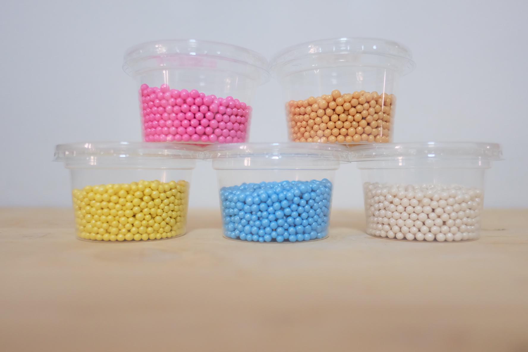 เม็ดมุกน้ำตาล set 5 สี อย่างละ 50 กรัม
