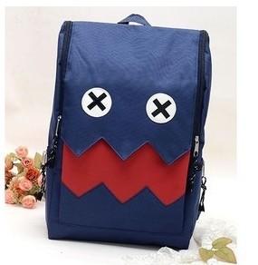พร้อมส่ง ขายส่งกระเป๋าเป้ผ้าสะพายหลัง เป้นักเรียน นักศีกษา เป้เดินทางใส่คอมพิวเตอร์ Fashion bag รหัส G-599 สีน้ำเงิน