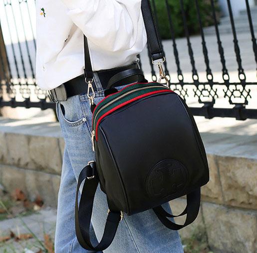 พร้อมส่ง ขายส่งกระเป๋าเป้ผ้าสะพายหลัง ใบเล็ก ผ้าไนลอนน้ำหนักเบา ผู้หญิงแฟชั่นเกาหลี รหัส NA-7601 สีดำ