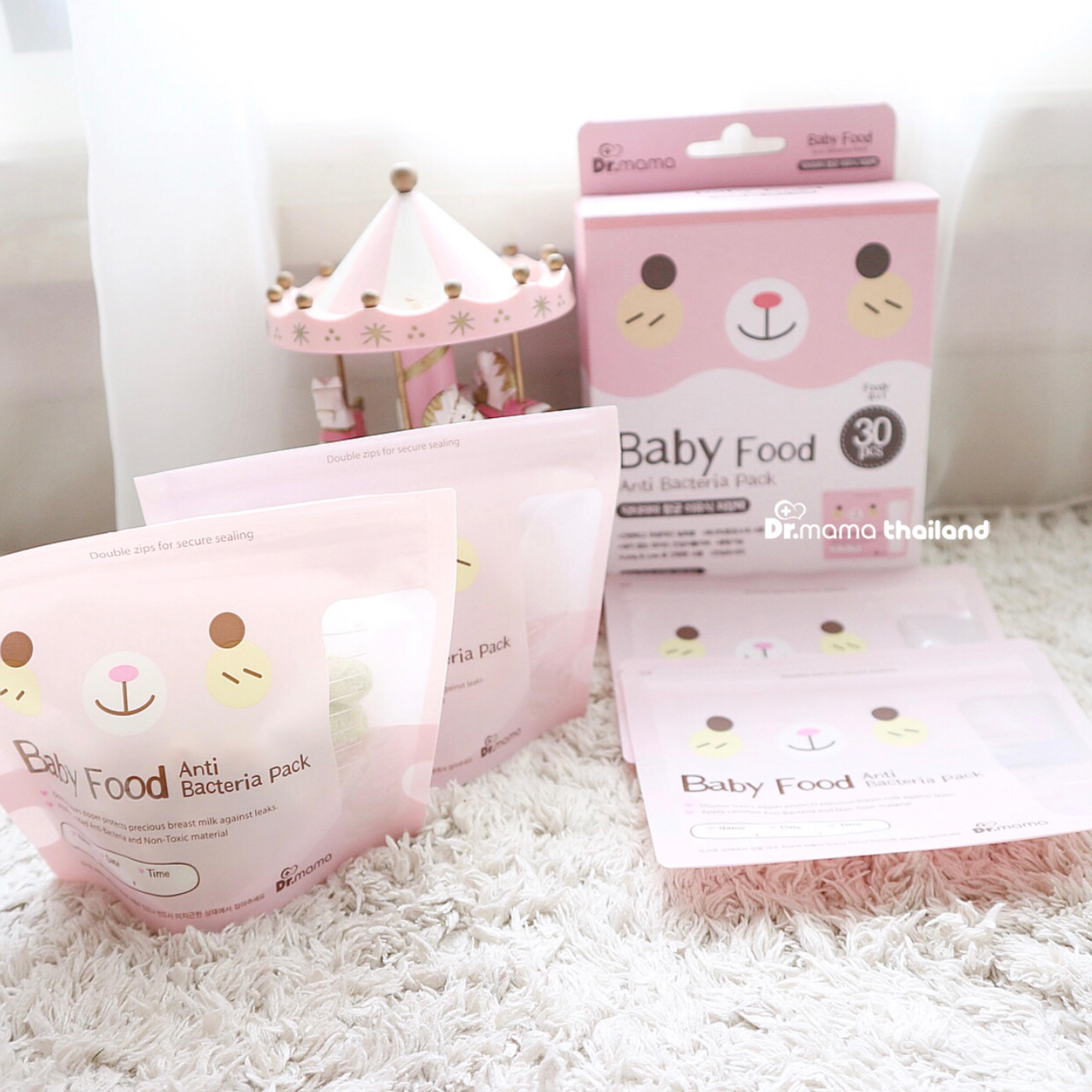 ถุงสต็อคอาหารเด็ก Dr.mama Foody Baby Food Storage Bag