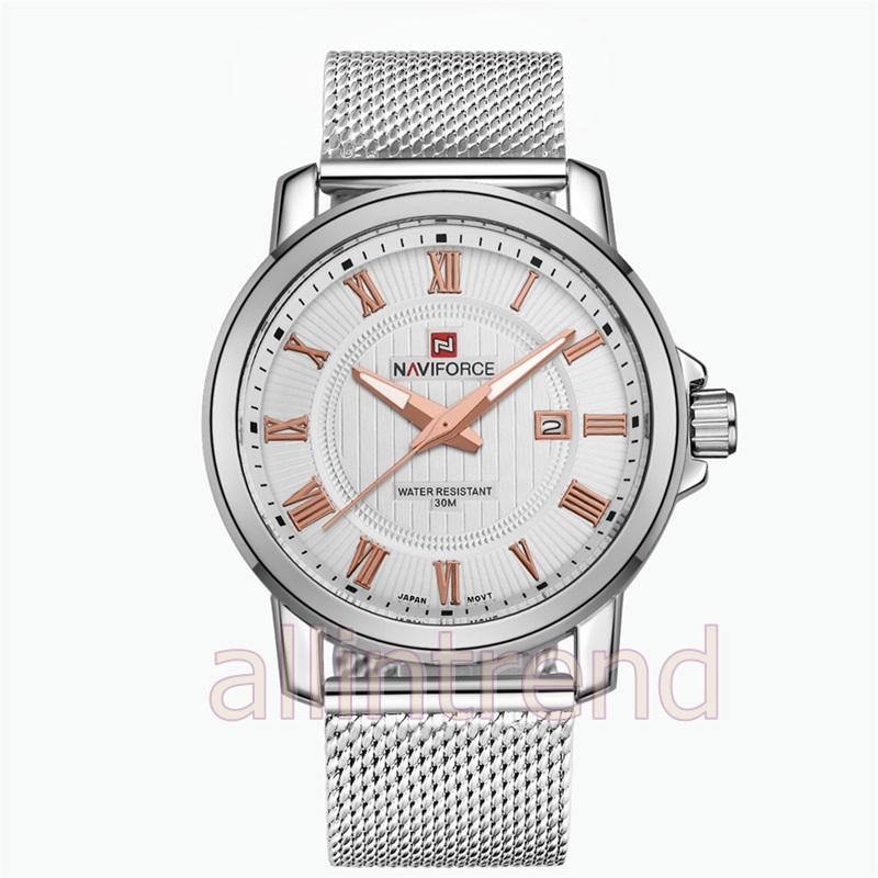 นาฬิกา Naviforce รุ่น NF9052M สีทองชมพู/เงิน ของแท้ รับประกันศูนย์ 1 ปี ส่งพร้อมกล่อง และใบรับประกันศูนย์ ราคาถูกที่สุด