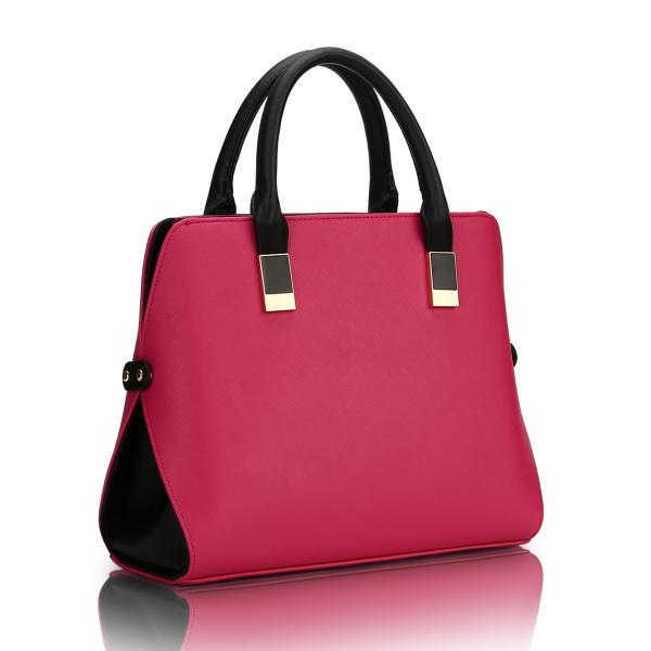 พร้อมส่ง กระเป๋าถือและสะพายข้าง กระเป๋าหรูคุณนายแฟชั่นเกาหลี Sunny-660 สีบานเย็น