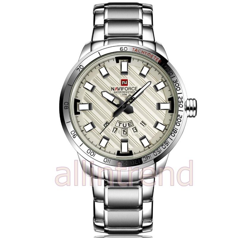 นาฬิกา Naviforce รุ่น NF9090M สีเงิน ของแท้ รับประกันศูนย์ 1 ปี ส่งพร้อมกล่อง และใบรับประกันศูนย์ ราคาถูกที่สุด