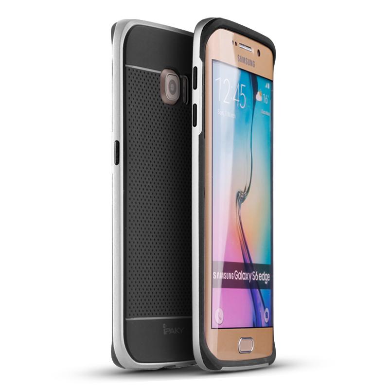 IPAKY CASE Samsung Galaxy S 6 Eage (ฺSilver)