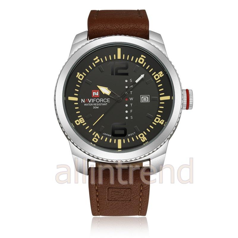 นาฬิกา Naviforce รุ่น NF9063M สีเหลือง/เงิน ของแท้ รับประกันศูนย์ 1 ปี ส่งพร้อมกล่อง และใบรับประกันศูนย์ ราคาถูกที่สุด