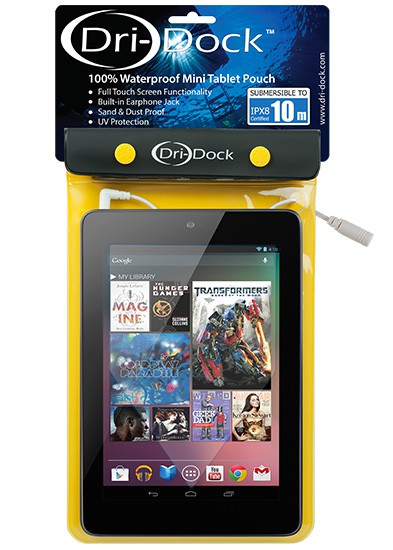 Mini Tablet Waterproof Pouch - สีเหลือง