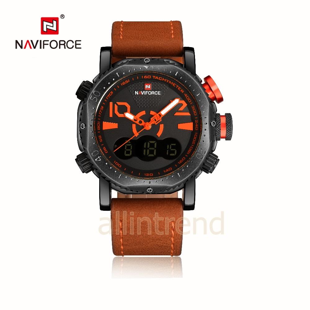 นาฬิกา Naviforce รุ่น NF9094M สีส้ม/น้ำตาล ของแท้ รับประกันศูนย์ 1 ปี ส่งพร้อมกล่อง และใบรับประกันศูนย์ ราคาถูกที่สุด