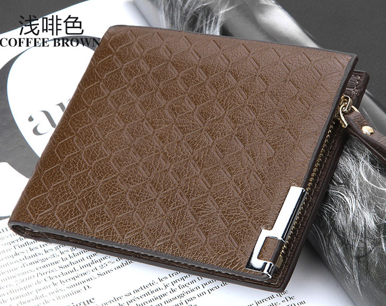 พร้อมส่ง กระเป๋าสตางค์ใบสั้นผู้ชาย นักธุรกิจ แฟชั่นเกาหลี ยี่ห้อ baellerry รหัส BA-B004-1 สีน้ำตาลอ่อน ทรงนอน *ไม่มีกล่อง