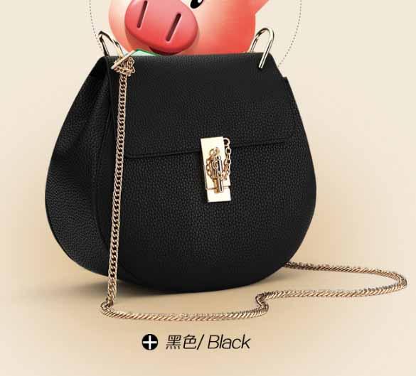พร้อมส่ง กระเป๋าถือและสะพายข้าง สายสะพายโซ่ กระเป๋าหรูคุณนายแฟชั่นเกาหลี Sunny-652 แท้ สีดำ