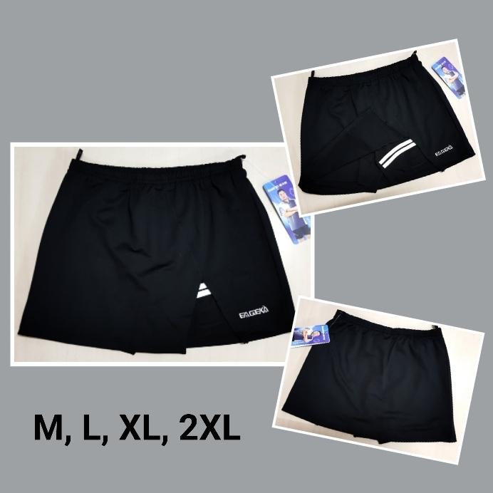 กระโปรงกางเกงกีฬาสีดำ