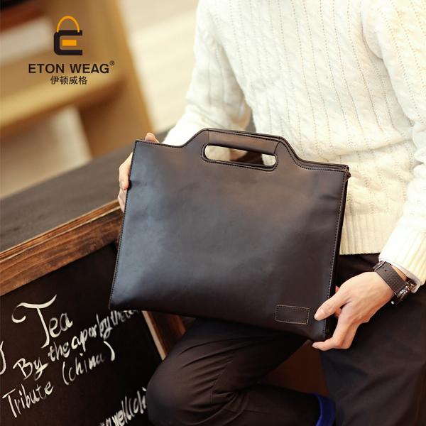 ขายส่งกระเป๋าถือและสะพายข้างใส่เอกสาร นักธุรกิจ ผู้ชายแฟขั่นเกาหลี รหัส Man-616 สีดำ