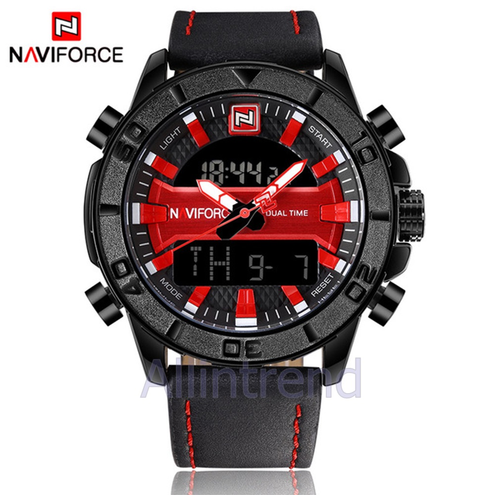 นาฬิกา Naviforce รุ่น NF9114M สีแดง/ดำ ของแท้ รับประกันศูนย์ 1 ปี ส่งพร้อมกล่อง และใบรับประกันศูนย์ ราคาถูกที่สุด