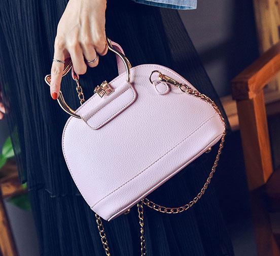 พร้อมส่ง ขายส่งกระเป๋าผู้หญิง ถือและสะพายข้างใบเล็ก หูจับแมว แฟชั่นเกาหลี Fashion รหัส NA-564 สีชมพู