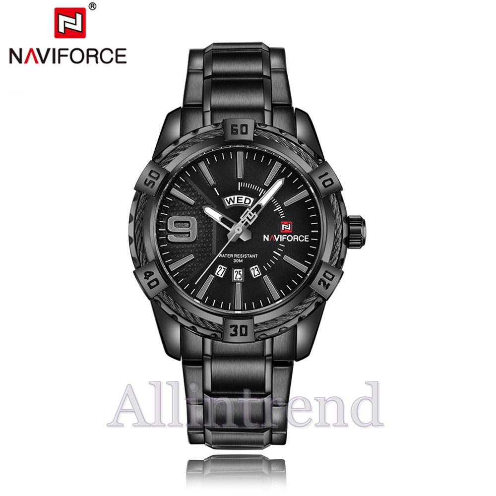 นาฬิกา Naviforce รุ่น NF9117M สีดำ ของแท้ รับประกันศูนย์ 1 ปี ส่งพร้อมกล่อง และใบรับประกันศูนย์ ราคาถูกที่สุด
